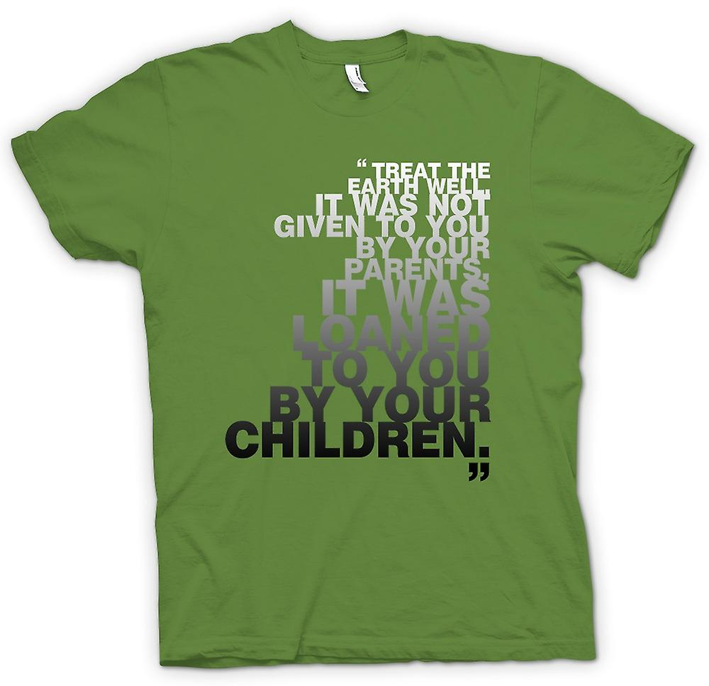 Mens T-shirt - Green Conservation - Treat Earth Well
