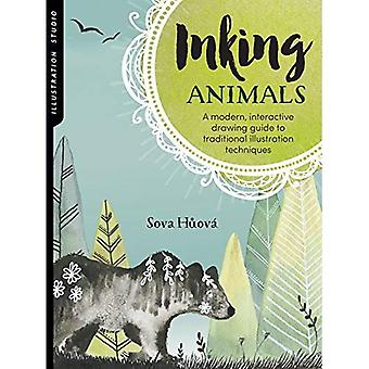 Illustration Studio: Inking Animals: A modern, interactive drawing guide to traditional illustration techniques (Illustration Studio)