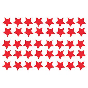 Big Pack Of 40 Vinyl Star Stickers