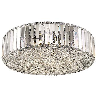 Spring Lighting - Poole Chrome And Crystal Flush Fitting  CFMH046DM5GMVT