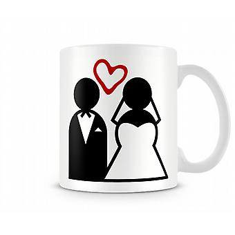 Couple marié Tasse Love Heart