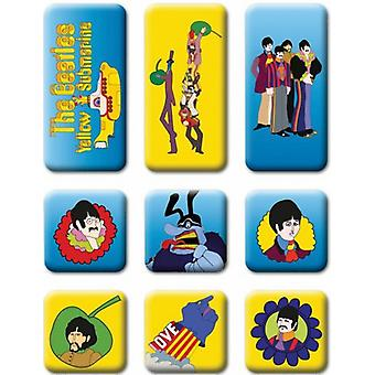 Beatles Yellow Submarine set of 9 mini fridge magnets (ro)