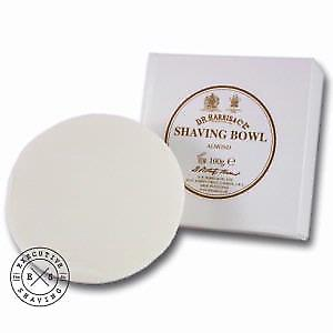 D R Harris Shaving Soap Refill in Almond 100g