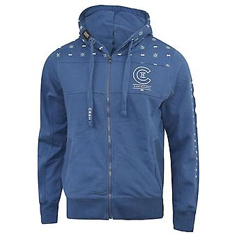 Mens crosshatch hoodie full zip zunite