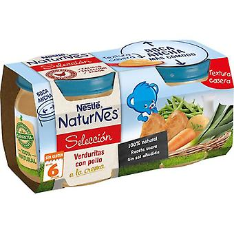 Nestlé Pureed Vegetables with Chicken Cream 2x200 gr (Childhood , Food , Pots)