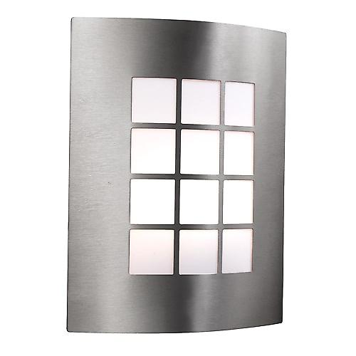 Searchlight 3140SS Curved Stainless Steel And Polycarb Outdoor Wall Light