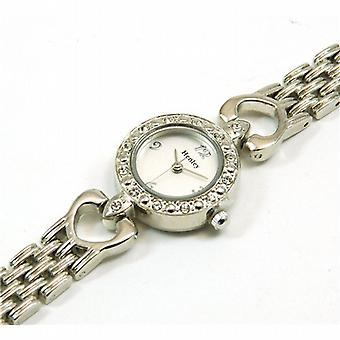 Henley Ladies Heart Link Five Brick Bracelet Watch