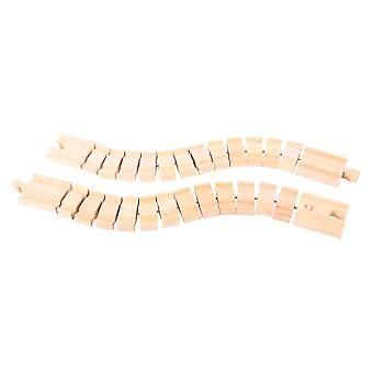 Bigjigs Rail Wooden Crazy Track (Pack of 2) Railway Track Expansion Pack