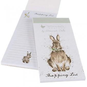 Wrendale Designs Rabbit Magnetic Shopping Pad