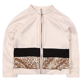 Byblos Kids Giubbotto Sequinned Baby Jacket, Oro
