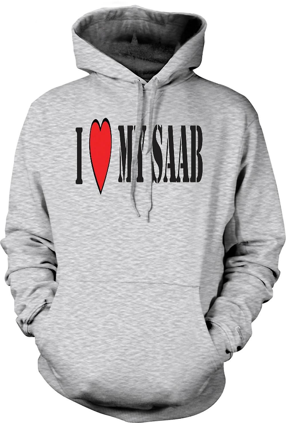 Mens Hoodie - j'ai LoveMy Saab - voitures Fun