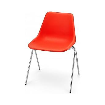 Hille Bright Orange Robin Day Poly Side Plastic Chair