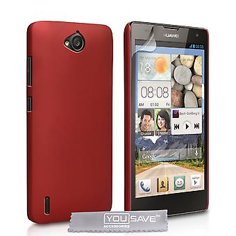YouSave Accessories Huawei Ascend G740 Hard Hybrid Case Red