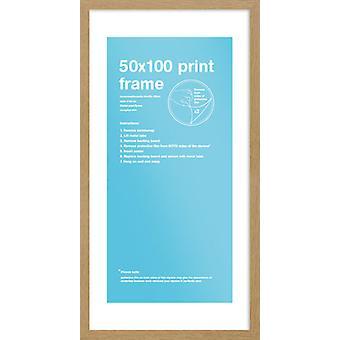 Cartel de 50 x 100cm marco de roble Eton / impresión marco