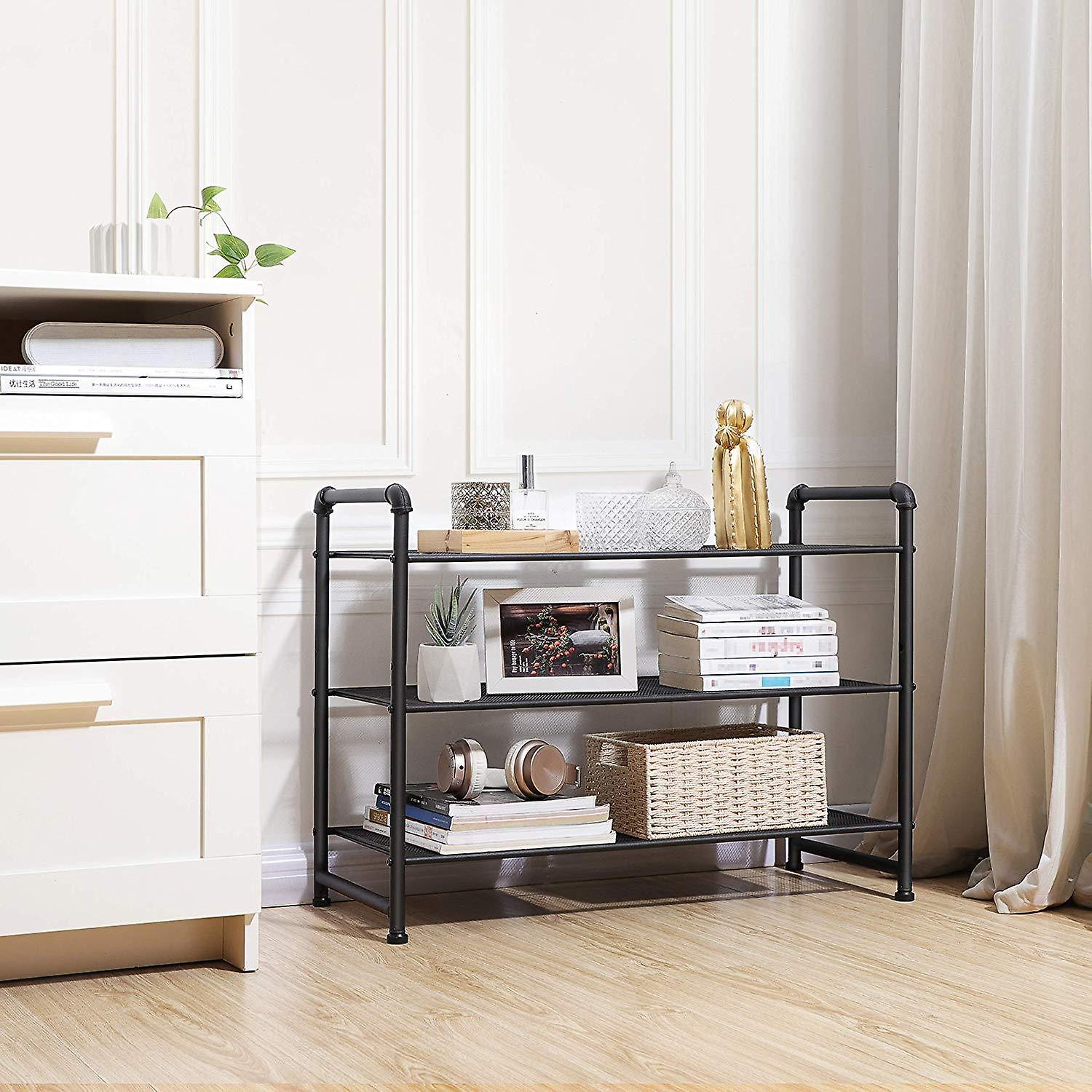 Industrial shoe rack with 3 grids