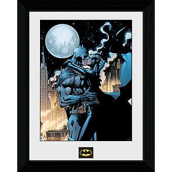 Batman księżycowej pocałunek oprawione Collector wydruku 40x30cm