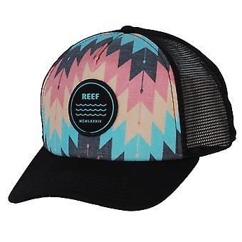 Reef Men's Snapback Trucker Cap ~ Aztec black