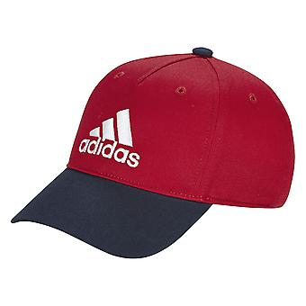 adidas Toddler Kids Graphic Six Panel Training Cap HatRed/Navy Blue