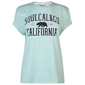 SoulCal Womens Logo T-Shirt T-Shirt T-Shirt T-shirt Top Ladies