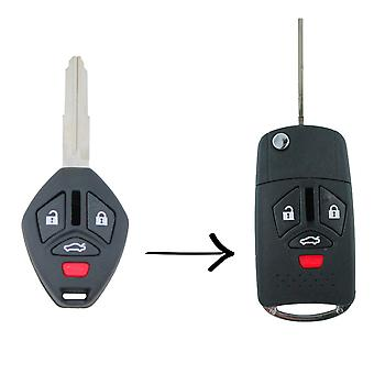 Mitsubishi 380 2005-008 Remote flip Key blank udskiftning Shell/sag