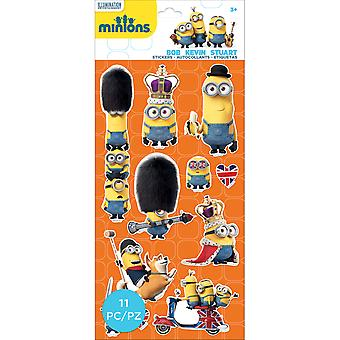 Minions Mini Flat Stickers-British Invasion 5305005