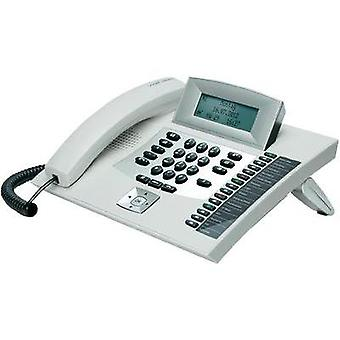 PBX ISDN Auerswald COMfortel 1600, white Headset connection, Hands-free, Touchscreen Backlit White, Silver