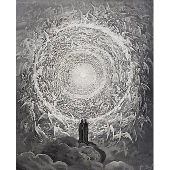 Illustration für Paradiso von Dante Alighieri Canto Xxxi Zeilen 1 bis 3 von Gustave Dore 1832-1883 französische Künstler und Illustrator PosterPrint
