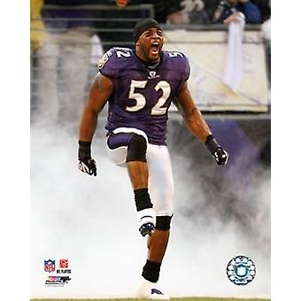 Ray Lewis 2007 Action Photo Print
