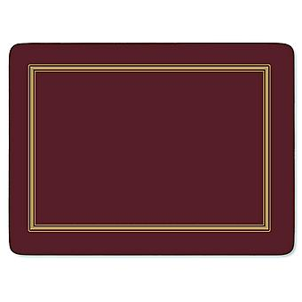 Pimpernel Classic Burgundy Placemats Set of 6