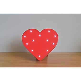LED letter - Yesbox lights heart red Love Liebe