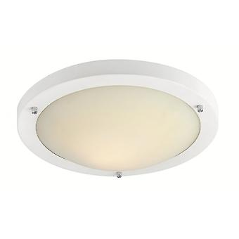 Firstlight Modern Minimalist White Flush Ceiling Light