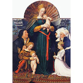 Hans The Younger - Darmstadt Madonna Poster Print Giclee