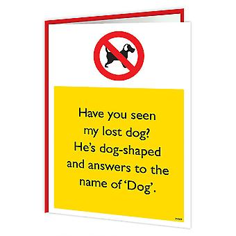 Brainbox Candy Lost Dog Warning Card