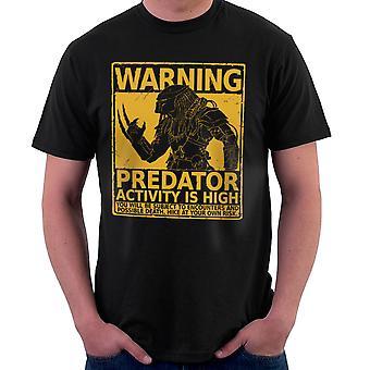 Ostrzeżenie Pedator aktywności jest wysoka Men's T-Shirt
