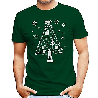 Suicide Squad Harley Quinn Christmas Tree silhouet witte T-Shirt voor mannen