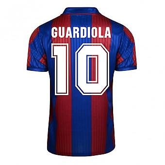 Score Draw Barcelona 1992 Home Shirt (Guardiola 10)