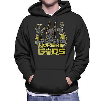 Worship The Gods Anubis Men's Hooded Sweatshirt