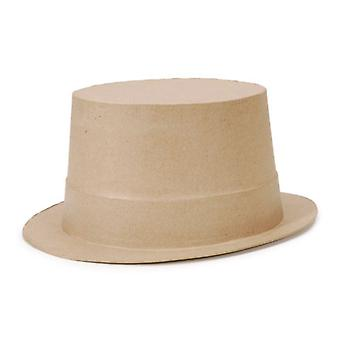 Full Size Paper Mache Top Hat Shape for Crafts - 27.5x22.5x12cm