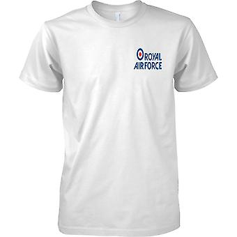 Licensed MOD -  Royal Air Force Insignia Logo - Mens Chest Design T-Shirt