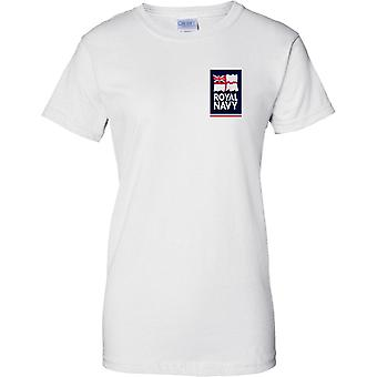 Licenseret MOD - Royal Navy Logo - damer brystet Design T-Shirt