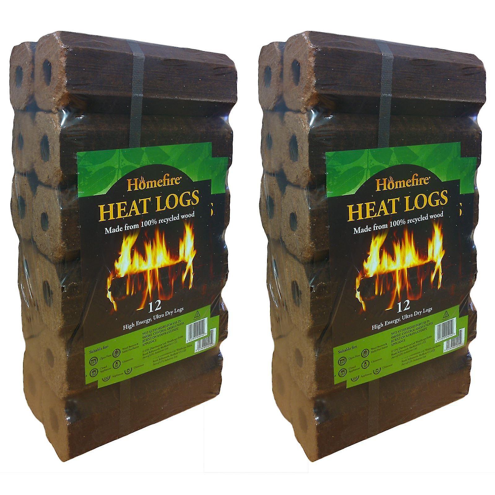 Homefire 12 High Energy Ultra Dry Heat Logs (2 Pack)