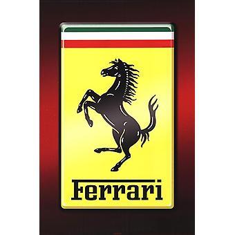 Ferrari - Logo-Poster-Plakat-Druck