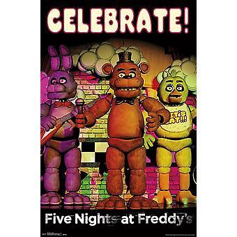 Pięć dni w Freddys - świętować Wydrukuj plakat
