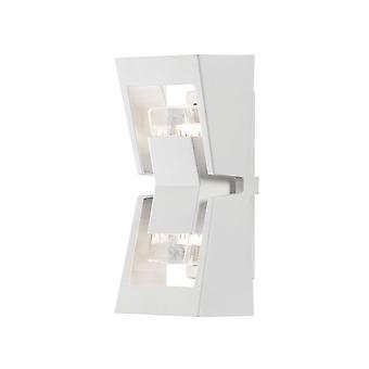 Konstsmide ポテンザ モダン ガーデン壁ランタン光ホワイト