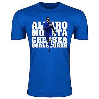 Alvaro Morata Chelsea Player t-skjorte (blå)