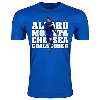 Alvaro Morata Chelsea Player T-Shirt (blau)