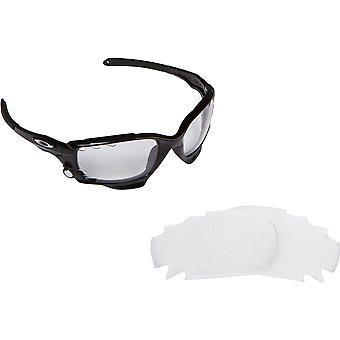 Best SEEK Replacement Lenses for Oakley VENTED RACING JACKET Black Clear