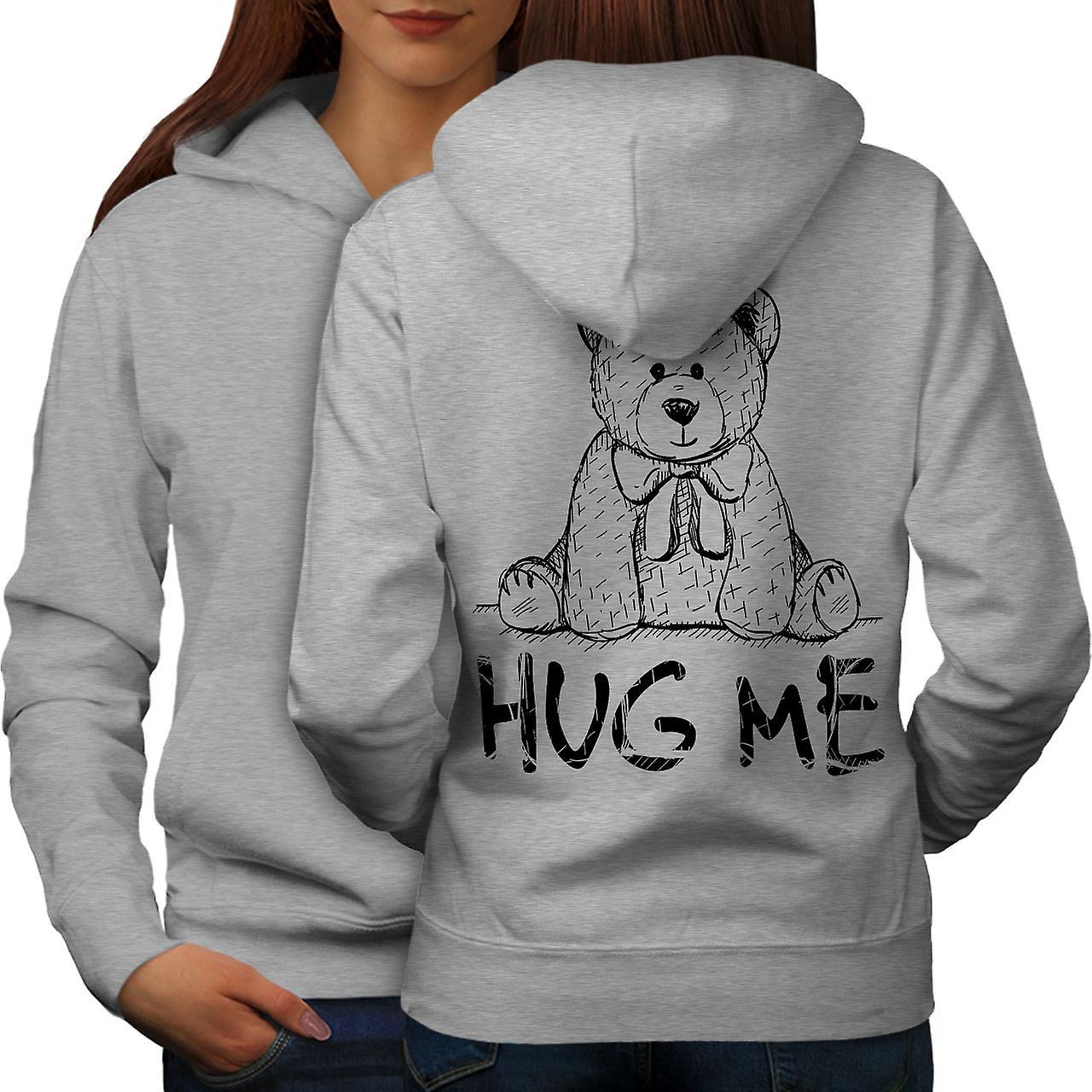 Hug Me nounours femmes grisHoodie dos