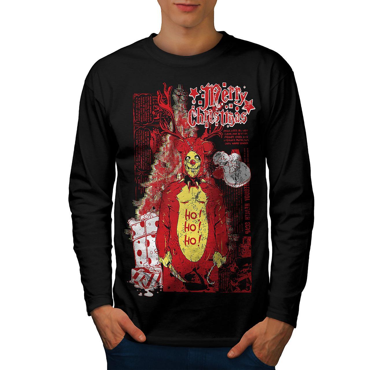 Zombie Horror Weihnachten Männer BlackLong Sleeve T-shirt | Wellcoda