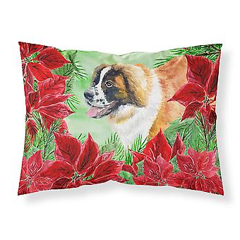 Saint Bernard Poinsettas Fabric Standard Pillowcase
